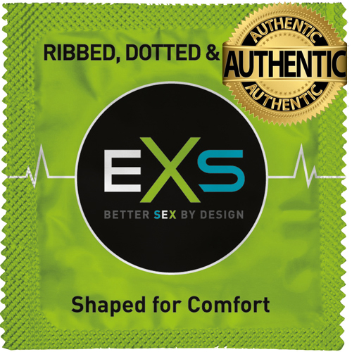 EXS Extreme 3 in 1 Ribbed Condoms