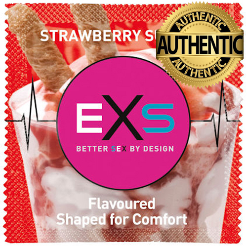 EXS Strawberry Sundae Flavour Condoms